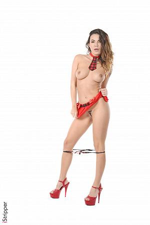 Vanessa Decker Super Tease In Red #9