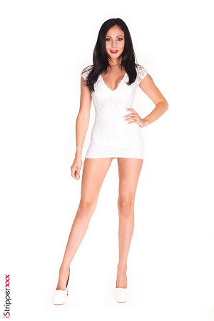 Ariana Marie In Mini White Dress #4